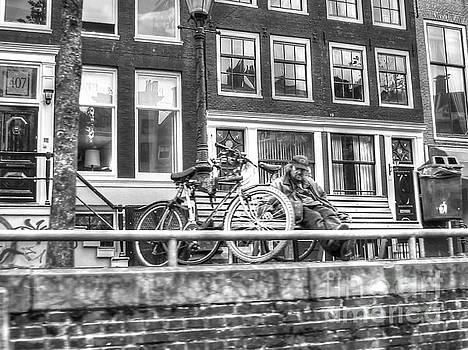Amsterdam street by Yury Bashkin