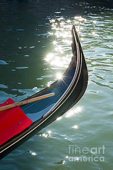 Ancient gondola in Venice by Deyan Georgiev