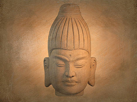 antique oil effect Buddha Burmese.. by Terrell Kaucher
