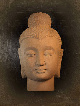 antique oil effect Buddha Gandhara.. by Terrell Kaucher