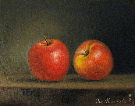 2 Apples  by Eleonora Mingazova