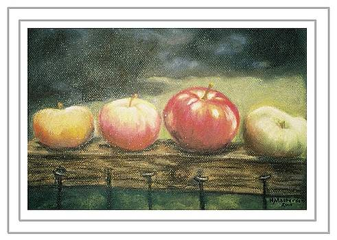 Apples on a Rail by Harriett Masterson