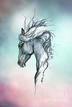 Aqua horse by Angel Ciesniarska