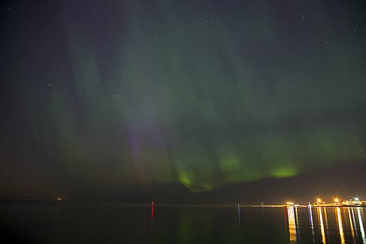 Sandra Rugina - Aurora Borealis Northern Lights over city of Tallinn North Europe