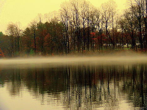 Autumn lake by Aron Chervin