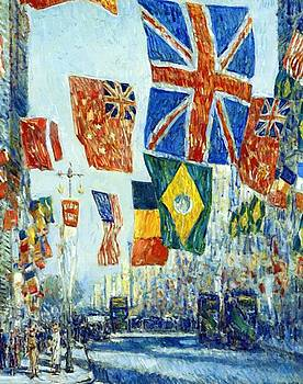 Avenue Of The Allies  by Hassam Childe
