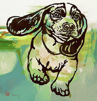 Baby dog -  Pop Art Poster by Kim Wang