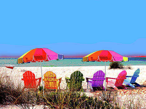 Beach Chairs by Charles Shoup