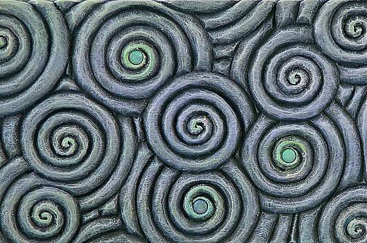 Bleus En Spirale by Jacques Vesery