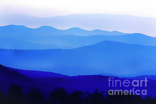 Blue Ridge Mountains by Thomas R Fletcher