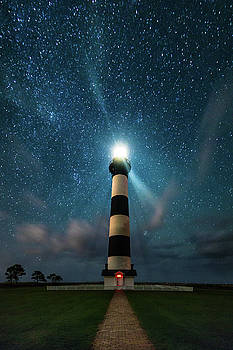 Bodie Lighthouse Under the Stars by Nick Noble