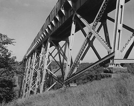 Chicago and North Western Historical Society - Iowa High Bridge - 1958