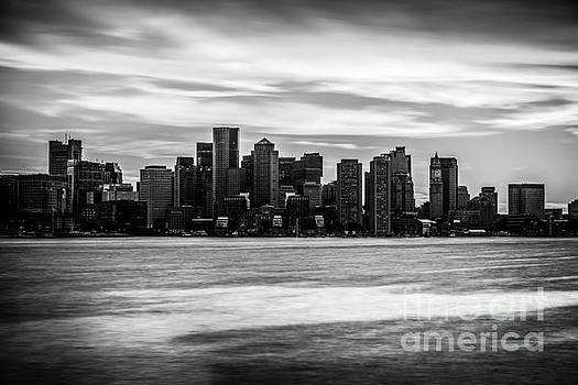 Boston Skyline Black and White Picture by Paul Velgos