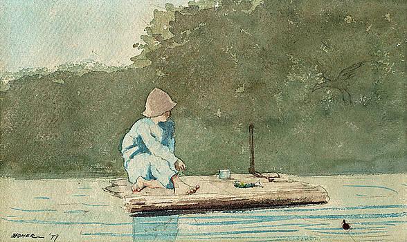 Winslow Homer -  Boy on a Raft