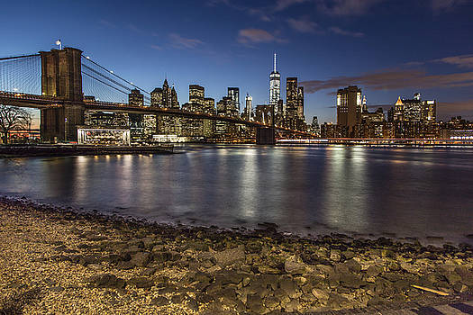 Brooklyn Bridge and Manhattan Skyline by John McGraw