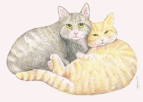 2 Cats by Rose Gauss