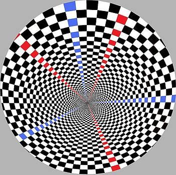 Checkered Wheel by Gabe Art Inc