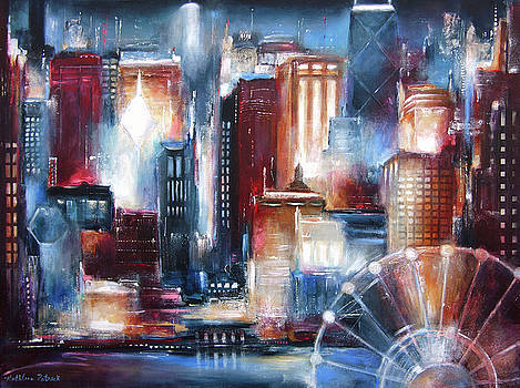 Chicago From the Lake by Kathleen Patrick