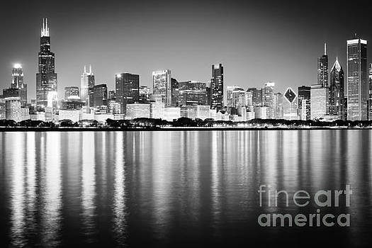 Paul Velgos - Chicago Skyline Black and White Photo