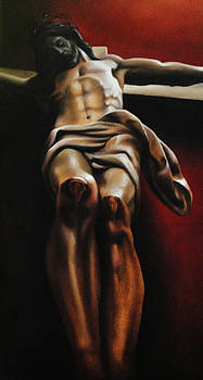 Christ on the cross by Antonio Barriga