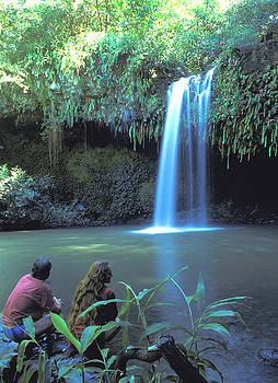 Couple at Waterfall on Maui by Carl Purcell