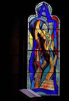 Culross Abbey - Stained Glass by Jeremy Lavender Photography