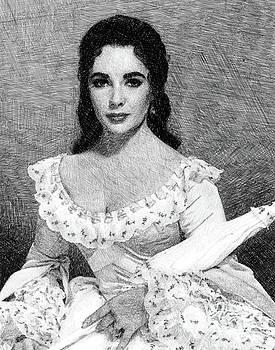 John Springfield - Elizabeth Taylor, Vintage Actress by JS