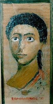 Encaustic portrait by George Siaba