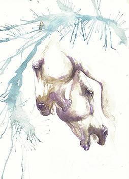 Angel Ciesniarska - fighting horses