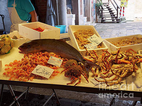 Fish Market in Venice Italy by Louise Heusinkveld