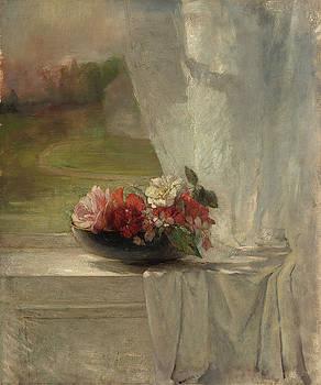 Flowers on a Window Ledge by John La Farge