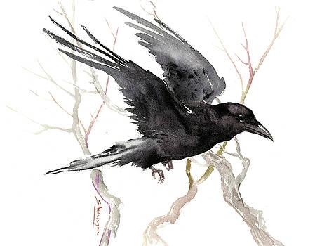 Flying Raven by Suren Nersisyan
