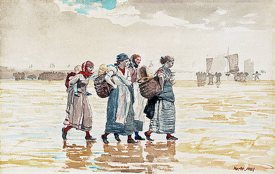 Winslow Homer - Four Fishwives on the Beach