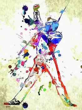Freddie Mercury Grunge by Daniel Janda