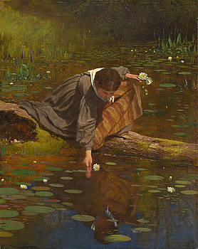 Eastman Johnson - Gathering Lilies