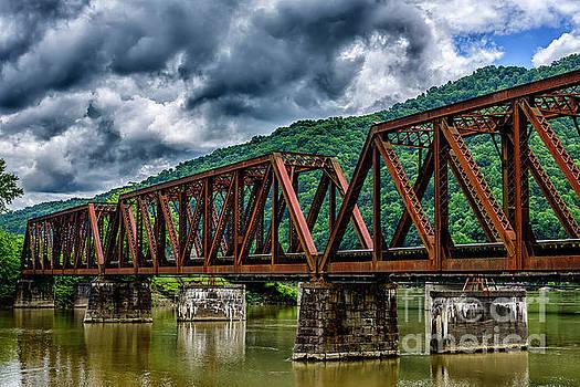 Gauley River Railroad Trestle by Thomas R Fletcher