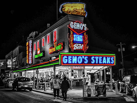 Genos  in Black and White in Selective Color by Bill Cannon