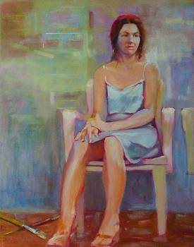 Girl in White Chair by Irena Jablonski