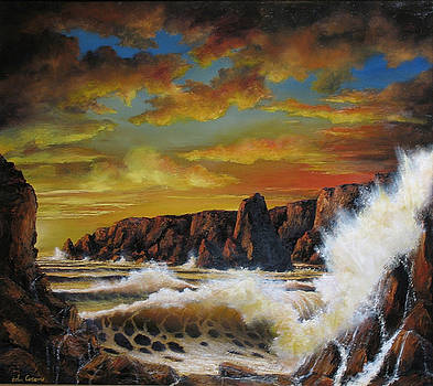 Golden Yellow Sunset by John Cocoris