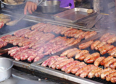 Handmade Sausages on the Grill by Yali Shi