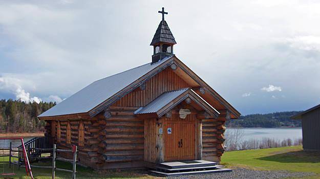 Historic Log Church by Robert Braley