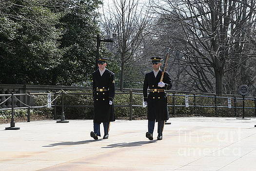 2 Honor Guard at Arlington Cemetery by April Sims