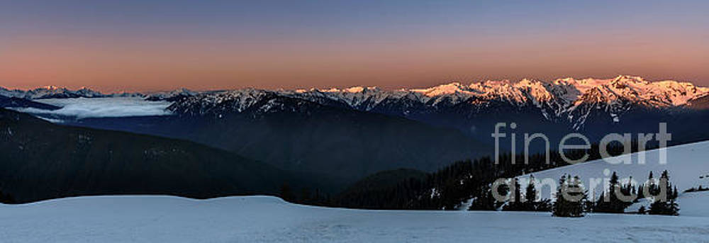 Hurricane Ridge at Sunrise in Olympic National Park Washington by Brandon Alms