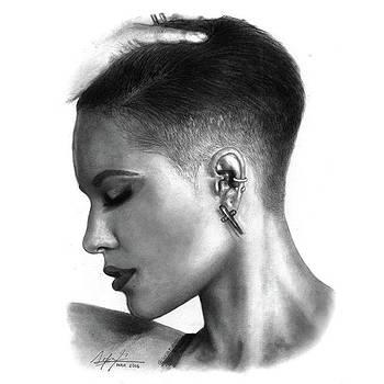 Halsey Drawing By Sofia Furniel by Jul V