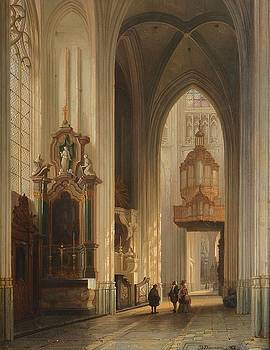 Interior view of Namur Cathedral by MotionAge Designs