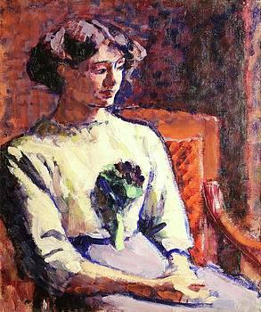 Jeune Fille Au Bouquet De Violettes by MotionAge Designs