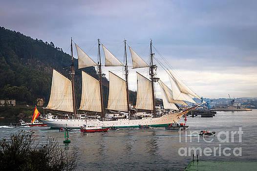 Juan Sebastian Elcano Arrival To The Port Of Ferrol by Pablo Avanzini