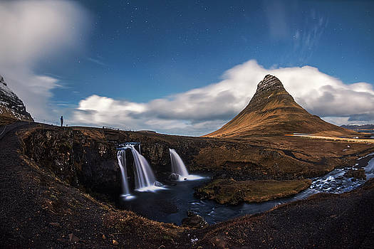 Kirkjufellsfoss waterfall and Kirkjufell mountain, Iceland by Pradeep Raja PRINTS