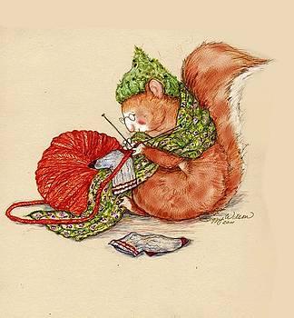 Peggy Wilson - Knitting Squirrel
