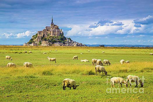 Le Mont Saint-Michel by JR Photography
